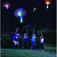 Wholesale flying helicopters for sale - Group buy Space UFO LED Light Christmas Halloween Flash Toys LED Arrow Helicopter LED Amazing Arrow Flying Helicopter Umbrella parachute Kids Toys