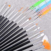 Wholesale Professional Nail Brush Set - Hot New! 2014 White 20pcs Professional Nail Art Brush Set Design Painting Pen Perfect Tools for natural b4 SV002093
