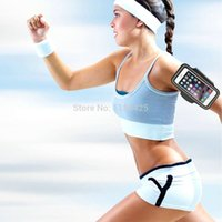 Wholesale Wholesale Galaxy Galaxys5 - Wholesale-Women and Men Sport Armband For Samsung Galaxy S5 S4 S3 Running Jogging Gym Arm Band fits For Samsung GalaxyS5
