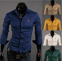 Wholesale Korean Casual Formal Dressing - Wholesale-2015 new clothes quality of Korean fashion long-sleeved shirt men formal leisure men dress shirt camisa MasculinaCMS002