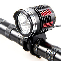 Wholesale 3x cree charger resale online - High bright x CREE XM L2 LED Front Bike Light Bicycle Lamp Head Light Outdoor Sports Accessories Lamp V Battery Pack headband charger
