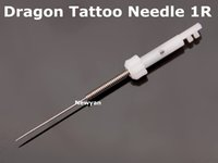 Wholesale Needle For Machine Dragon - Free shipping 50pc permanent makeup tattoo Needle 1R Needle and 50pc tips for dragon tattoo machine