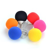 Wholesale Dock Mini Ball Portable - Portable Sponge Bobo Ball Mini Cell Phone Speaker Music Xtreme Louldspeaker Suitable All Devices with 3.5mm Audio Dock