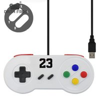 Data Frog Special Custom Per Nintendo SNES Controller USB Gaming Gamepad Joystick con gambo lucido per Windows PC / MAC / Laptop