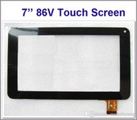 Wholesale Wholesale Tablet Parts - Touch Screen Display Glass Digitizer Digitiser Panel Replacement For 7 Inch 86V Phone Call Allwinner A13 A23 A33 Tablet PC Repair Part MQ50