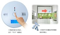 Wholesale Security System Lead Boxes - Carbon Monoxide Detector Alarm System For Home Security Poisoning Smoke Gas Sensor Warning Alarms Tester LED With Retail Box Factory Price