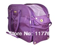 Gros-Free navire pourpre double brin 1680D en nylon avec ruban de coton Pet Dogs Carrier Bag Dogs Fashion Bag
