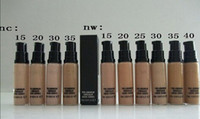 Wholesale Nc Foundations - free shipping +gift !High quality 10pcs lot Brand Makeup Liquid Foundation PRO LONGWEAR CONCEALER CACHE-CERNES 9ML Foundation Hot NC NW STYE