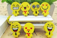 Wholesale Doll Eraser - High Quality Lovely Smiling Face Eraser Expression Small Doll Eraser Emoji Erasers Kids Gift Creative Stationery Promotional Eraser