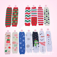 Wholesale Snowman Leg Warmer - 2016 Spring New Snowman Trees Winter Baby Leg Warmers Kneepad Boot Crochet Legs Warmer Cartoon Leg Warmers Boot Socks D6398