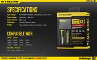 Wholesale Genuine E Cig - Genuine Nitecore I2 Universal Charger for 16340 18650 14500 26650 Battery E Cig 2 in 1 Muliti Function Intellicharger Rechargeable free ship