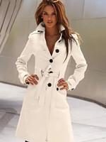 yünlü yaylı mantolar toptan satış-2016 Bahar Moda Kadın YÜN Kaşmir Uzun Kış Coat Blazer Dış Giyim