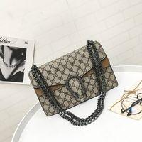 Wholesale Head Diamond - Vintage Women Lattice Check Crossbody Bag Fashion Female Chain Flap Lady Snake Head Handbag For Any Occasion Retro Daily Shoulder Bag