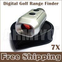 Wholesale Digital Golf Range Finder - Armiyo 7X Digital Golf Range Finder Golfscope Scope Rangefinder Yards Measure Distance Meter Scope with Bag Binoculars Free Shipping