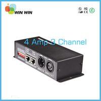 Wholesale Led Strips Dmx - Wholesale-12V-24V 3 Channel 4A DMX Decorder LED Controller for RGB 5050 3528 LED Strip Light
