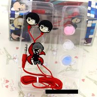 Wholesale Earphone Anime - Wholesale-Anime Tokyo Ghoul Cosplay Earphone Ken Kaneki Earphone With 3 Earbuds Hot Sale H2426