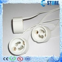 Wholesale Base Socket Adapter - GU10 Lamp Holder Socket Base Adapter Wire Connector Ceramic Socket for LED Halogen Light Free Shpiping