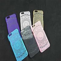 Wholesale Iphone 5c Elephant Case - Floral Paisley Flower Mandala Elephant Dream Catcher PC Back phone Case Cover For iPhone 4 4S 5 5S 5C 6 4.7 Plus 5.5 iPhone6