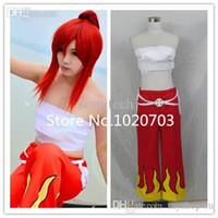 Wholesale Bandage Xxs - Wholesale-Fairy Tail Erza Scarlet Cosplay Costume Pants belt Bandage Tube Top