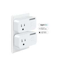 Power monitor wifi smart plug presa standard USA 16A / 250V 2200W prese di corrente domestiche intelligenti Il telecomando wireless funziona con Alexa