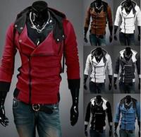 katilin inançlı hoodie kostümü toptan satış-SıCAK SATMAK Yeni Assassin creed 3 Desmond Miles Hoodie Üst Ceket Ceket Cosplay Kostüm, assassins creed tarzı Kapüşonlu polar ceket,