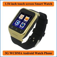 Wholesale Dual Sim Cell Phone Watch - Smart Watch 3G WCDMA Smartphone Android 4.4 MTK6572 Dual Core CPU 1.5 Inch screen 2.0MP Camera WCDMA GSM cell phone GPS TF SIM card BB63