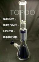 кальян специальный дизайн bong оптовых-GB1150 последний стеклянный кальян специальная конструкция стекло Бонг фильтр стекло водопровод высокая: 47 см толщиной 7 мм HJ0030