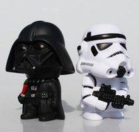 Wholesale Bobble Head Darth Vader - Trader Star Wars Darth Vader Stormtrooper Piggy bank Bobble Head PVC Action Figures Toys Model Dolls 14cm Great Gift