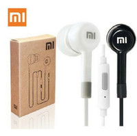 Wholesale Ear Buds Microphone - Xiaomi Headphones 3.5mm Noise Cancelling Earphones Ear Buds Headphone Music With Microphone For iphone Samsung LG MP3 Earphone