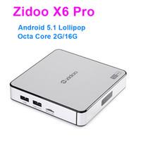Wholesale Tv Box X6 - ZIDOO X6 Pro Android TV Box RK3368 Quad Core 2G 16G 802.11AC Bluetooth 3D KDI Aluminium Smart TV Box IPTV Media Player