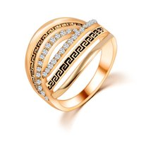 Wholesale mexican costume party online - Wedding Rings Men Woman Korean Fashion Jewelry Antique Silver K Gold Plated Costume Jewelry Cubic Zirconia Gemstone Rings