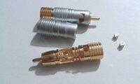 soldadura rca plug al por mayor-4 piezas chapado en oro Nakamichi Pure Copper RCA conector de soldadura no