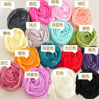 Wholesale Scarf Mixed Candy Color - Free DHL Fashion Scarf Women Mixed Candy Colour Long Scarf Ladies Candy Color Fold Multicolor Punk Scarf Sunscreen Shawls Scarves ZJ-S55