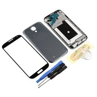 Wholesale S4 Free Case - Wholesale-NEW Black Full Housing Case Screen Glass tools Repair Assembly For Samsung Galaxy S4 i9500 Free Shipping