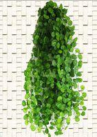 künstliche trauben-efeu-pflanzen großhandel-Blume 210cm Ft Lange Künstliche Pflanzen Green Ivy Leaves Künstliche Weinrebe Gefälschte Blätter Home Hochzeitsdekoration Girlande