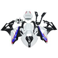 Wholesale Injection Racing ABS Fairings For BMW S1000RR ABS Plastic Motorcycle Fairing Kit Body Covers Motorcycle Frames White Blue Carene