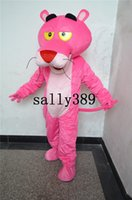 Wholesale Dress Carnival Animal - new pink panther mascot high quality cartoon costume fancy dress adult suit party carnival parade free shipping Factory direct sale