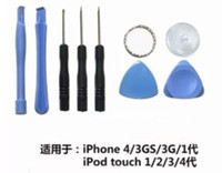 destornillador torx plus al por mayor-8 en 1 Juego de herramientas de herramientas de apertura con destornillador Torx Pentalobe estrella de 5 puntos para iPhone 4 / 4s / 5 / 5s / 5c / 6/6 plus