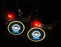 Wholesale Cars Astra H - 2PCS Gold 4th Gen LED car door Shadow laser projector logo light for OPEL Astra H Corsa D Meriva A Vectra C Zafira B Courtesy Laser