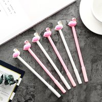 Cartoon Neutral Pen Flamingo Modelling Pen Black Gel 0.5mm Plastic Swan Writing Tools Studente ricompensa Gift School Office Wholesale