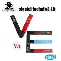 Wholesale Dhl Free Shipping E Cigarettes - Authentic Sigelei Fuchai V3 E-cigarette Vape Kit Portable Mini 5.5W Vapor Mod 1.5ml Atomizer Tank VS ALD AMAZE EPOCH kit free DHL shipping