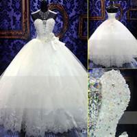 Wholesale Trumpet Wedding Dresses Swarovski Crystals - Zuhair Murad New Wedding Dress Bridal Gown With Ball Gown SWAROVSKI Luxury Crystals Sweep Train Beaded White Or Ivory Lace UP