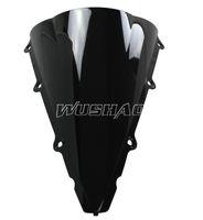 r1 ön cam toptan satış-2002-2003 Yamaha YZF 1000 R1 02 03 Siyah Için Motosiklet Çift Kabarcık Cam WindScreen