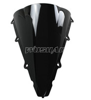 Wholesale yzf r1 black - Motorcycle Double Bubble Windshield WindScreen For 2002-2003 Yamaha YZF 1000 R1 02 03 Black