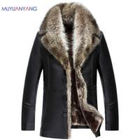 Wholesale Big Coats For Men - Wholesale- Mu Yuan Yang New Winter Faux Leather Coat For Male Casual Faux Leather Coat Overcoat XXXL XXXXL PU Jackets Leather Big Size