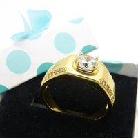 Wholesale Europ Style - Simple Europ Style 18k Solid Yellow Gold Filled Classic Smooth Band Womens Mens Ring Size 10