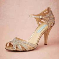 Sandalias Por Mayor De Diamantes Imitación Champaña Al Venta DYWH2I9E