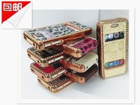 Wholesale Iphone 4s Case Woven - For Iphone 4 4S Soft Plain Weave PU Leather Cover Case Skin Hard Case For Apple Iphone 4 4S 10 PCS