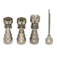 Wholesale Titanium Nail Wholesale - Titanium Dab Nail Universal 6 in 1 Dish Plate Dab Rig Nail Male & Female Joint Nails