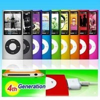 Wholesale Mp4 Player 4th Gen - Real Black Red Yellow Green Blue Purple Sports Card Reader No Oem 32gb New 9 Colors Fm Video 4th Gen Mp3 Mp4 Player free Shipping